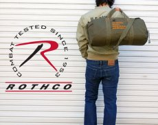 画像6: ボストンバッグ メンズ 2WAY ショルダー ROTHCO ロスコ オレンジプリント / オリーブ (6)