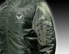 画像3: MA-1 フライトジャケット メンズ メンフィスベル 爆弾エアフォース モデル オリーブドラブ (3)