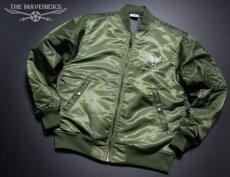 画像4: MA-1 フライトジャケット メンズ メンフィスベル 爆弾エアフォース モデル オリーブドラブ (4)