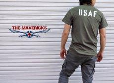 画像5: USAF エアフォース AIRFORCE Tシャツ メンズ 半袖 ミリタリー /オリーブドラブ (5)