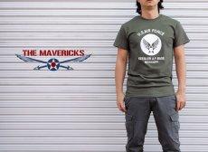 画像4: USAF エアフォース AIRFORCE Tシャツ メンズ 半袖 ミリタリー /オリーブドラブ (4)