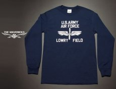 """画像2: アウトレット品 LOWRY FIELD """"ARMYエアフォース米陸軍航空隊"""" ミリタリー 長袖 Tシャツ L (2)"""