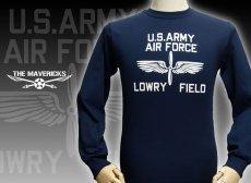 """画像1: アウトレット品 LOWRY FIELD """"ARMYエアフォース米陸軍航空隊"""" ミリタリー 長袖 Tシャツ XL (1)"""