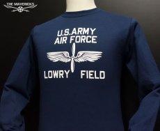 """画像3: アウトレット品 LOWRY FIELD """"ARMYエアフォース米陸軍航空隊"""" ミリタリー 長袖 Tシャツ L (3)"""