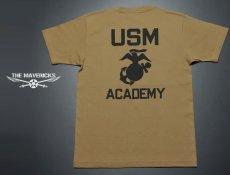 画像5: 極厚 スーパーヘビーウェイト ミリタリー Tシャツ USMA マリンアカデミー モデル / カーキーブラウン (5)