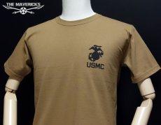 画像2: 極厚 スーパーヘビーウェイト ミリタリー Tシャツ USMA マリンアカデミー モデル / カーキーブラウン (2)