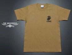 画像4: 極厚 スーパーヘビーウェイト ミリタリー Tシャツ USMA マリンアカデミー モデル / カーキーブラウン (4)