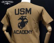 画像3: 極厚 スーパーヘビーウェイト ミリタリー Tシャツ USMA マリンアカデミー モデル / カーキーブラウン (3)