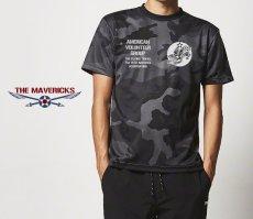 画像7: 水陸両用 ラッシュガード にも使える ドライTシャツ 半袖 AVGフライングタイガース / カモフラージュ ブラック (7)