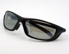 画像3: 軽量 19g 偏光レンズ スポーツ サングラス 黒 フラッシュミラー / ポラライズド (3)
