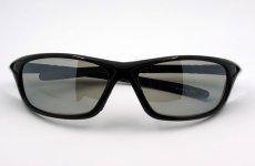 画像6: 軽量 19g 偏光レンズ スポーツ サングラス 黒 フラッシュミラー / ポラライズド (6)