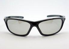 画像2: 軽量 19g 偏光レンズ スポーツ サングラス 黒 フラッシュミラー / ポラライズド (2)