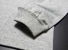 画像4: 極厚 スーパーヘビーウェイト ミリタリー 長袖 Tシャツ NAVY 米海軍 SeaBees / 杢グレー (4)