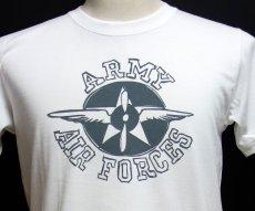 画像2: 極厚 スーパーヘビーウェイト Tシャツ ARMY AIRFORCE エアフォース 手書き  / 白 ホワイト (2)