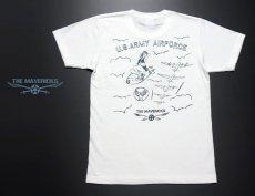 画像5: 極厚 スーパーヘビーウェイト Tシャツ ARMY AIRFORCE エアフォース 手書き  / 白 ホワイト (5)