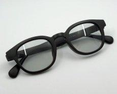 画像6: ボストン型 サングラス メンズ シンプル つや消し マットブラック ライトスモークレンズ (6)