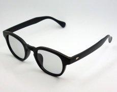 画像4: ボストン型 サングラス メンズ シンプル つや消し マットブラック ライトスモークレンズ (4)