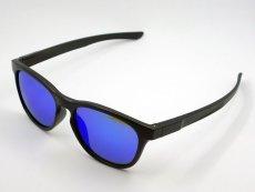 画像3: ブルーミラー サングラス マットブラック ウェリントン 黒 青ミラー 新品 (3)