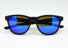 画像5: ブルーミラー サングラス マットブラック ウェリントン 黒 青ミラー 新品 (5)