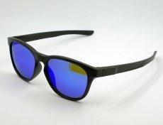 画像2: ブルーミラー サングラス マットブラック ウェリントン 黒 青ミラー 新品 (2)