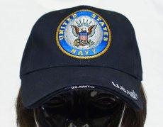 画像2: ミリタリーキャップ 帽子 メンズ U.S.NAVY エンブレム 刺繍 ROTHCO ロスコ ブランド 米海軍 公認 /ネイビー 紺 (2)