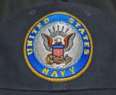 画像4: ミリタリーキャップ 帽子 メンズ U.S.NAVY エンブレム 刺繍 ROTHCO ロスコ ブランド 米海軍 公認 /ネイビー 紺 (4)