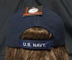 画像5: ミリタリーキャップ 帽子 メンズ U.S.NAVY エンブレム 刺繍 ROTHCO ロスコ ブランド 米海軍 公認 /ネイビー 紺 (5)