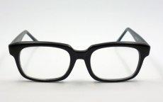 画像2: 送料無料 シンプルなスクエア系 伊達メガネ つや消し黒 マットブラック (2)