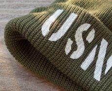 画像6: アメリカ製 ニットキャップ USN ミリタリー キャップ ニット帽 / ネイビー オリーブドラブ (6)