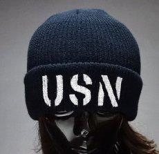 画像8: アメリカ製 ニットキャップ USN ミリタリー キャップ ニット帽 / ネイビー オリーブドラブ (8)