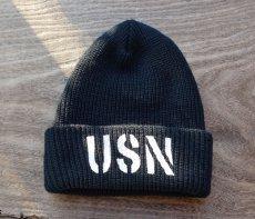 画像5: アメリカ製 ニットキャップ USN ミリタリー キャップ ニット帽 / ネイビー オリーブドラブ (5)