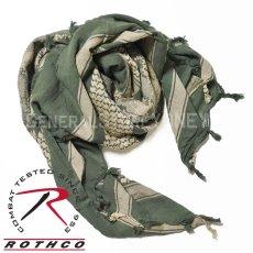 画像8: アフガンストール スカーフ メンズ ROTHCO ロスコ ブランド コットン 新品 / オリーブ デザート グレー (8)