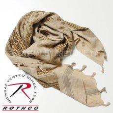 画像9: アフガンストール スカーフ メンズ ROTHCO ロスコ ブランド コットン 新品 / オリーブ デザート グレー (9)