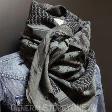 画像7: アフガンストール スカーフ メンズ ROTHCO ロスコ ブランド コットン 新品 / オリーブ デザート グレー (7)