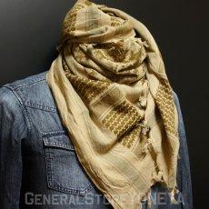 画像6: アフガンストール スカーフ メンズ ROTHCO ロスコ ブランド コットン 新品 / オリーブ デザート グレー (6)
