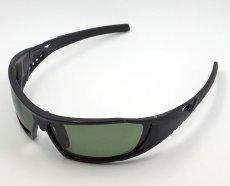 画像2: 偏光レンズ 鼻あて付き バイク シェイド バイク サングラス / スモークグリーン (2)