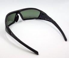 画像4: 偏光レンズ 鼻あて付き バイク シェイド バイク サングラス / スモークグリーン (4)