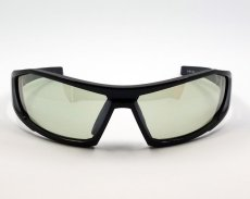 画像3: 偏光レンズ 鼻あて付き バイク シェイド バイク サングラス / グリーン フラッシュミラー (3)