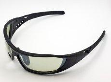 画像2: 偏光レンズ 鼻あて付き バイク シェイド バイク サングラス / グリーン フラッシュミラー (2)