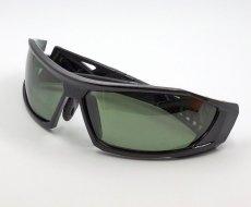画像3: 偏光レンズ 鼻あて付き バイク シェイド バイク サングラス / スモークグリーン (3)