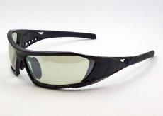 画像6: 偏光レンズ 鼻あて付き バイク シェイド バイク サングラス / グリーン フラッシュミラー (6)