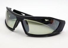 画像5: 偏光レンズ 鼻あて付き バイク シェイド バイク サングラス / グリーン フラッシュミラー (5)