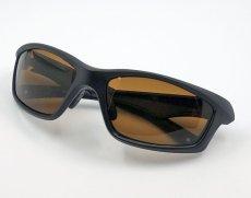 画像5: 偏光レンズ 鼻あて付き バイク シェイド バイク サングラス / ブラウン (5)