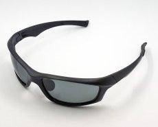 画像2: 偏光レンズ 鼻あて付き バイク シェイド バイク サングラス / スモーク (2)