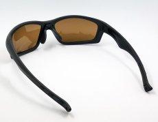 画像4: 偏光レンズ 鼻あて付き バイク シェイド バイク サングラス / ブラウン (4)