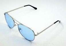 画像4: ティアドロップ メタル サングラス ブランド 名入れ前 モデル / ブルーレンズ (4)