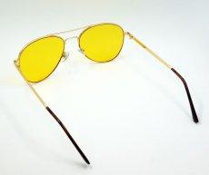 画像6: ティアドロップ メタル サングラス ブランド 名入れ前 モデル / イエローレンズ (6)