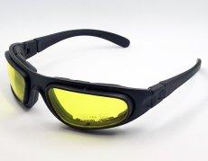 画像4: バイク サングラス & ゴーグル スモーク イエローレンズ 取替可能 ROTHCO ブランド (4)