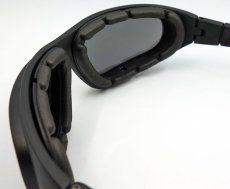 画像7: バイク サングラス & ゴーグル スモーク イエローレンズ 取替可能 ROTHCO ブランド (7)