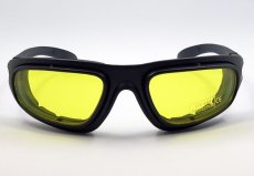 画像5: バイク サングラス & ゴーグル スモーク イエローレンズ 取替可能 ROTHCO ブランド (5)
